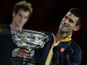 الصربي ديوكوفيتش يتوج بطلا لأستراليا المفتوحة بعد فوزه على البريطاني أندي موراي  وكالة فساطو الاخبارية