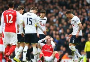 توتنهام يتغلب على ضيفه ارسنال بهدفين لهدف ضمن مباريات الجولة الرابعة والعشرون من الدوري الانجليزي الممتاز