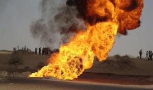 عبد الرسول الانفجار في خط الأنابيب الممتد من السرير ناجم عن قنبلة