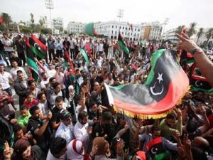 مظاهرات تشهدها عدة مدن ليبية تحت شعار ( ضبط المسار مسؤولية المؤتمر والثوار )