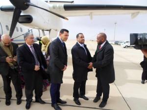 وصول الوفود المشاركة في الحوار الفرقاء الليبين إلى مدينة غدامس