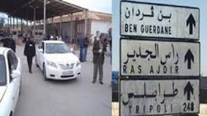 مصدر أمني تونسي ينفي محاولة إقتحام معبر رأس جدير بالقوة من قبل تجار تونسيين