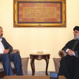 نصر الله يبحث مع موفد الرئيس الإيراني الوضع في اليمن