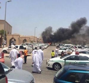 انفجار سيارة قرب مسجد بمدينة الدمام السعودية