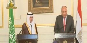 شكري والجبير  لا خلافات بين مصر والسعودية بشأن سوريا واليمن