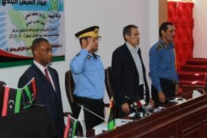 الاجتماع الثاني لمدراء الفروع والادارات وشؤون مراكز جهاز الحرس البلدي بمدينة شحات