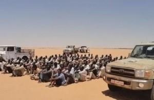 انقاذ 154 مهاجرا غير شرعي على الحدود السودانية الليبية