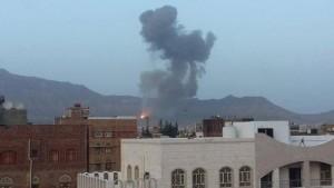 مقتل 8 مدنيين وإصابة أكثر من 20 أخرين في قصف على مخازن الأسلحة شرق صنعاء