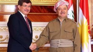 أوغلو  برزاني أكد حقنا بقصف مواقع الكردستاني