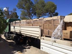 توزيع 250 سلّة غذائية على الأسر النازحة إلى غريان
