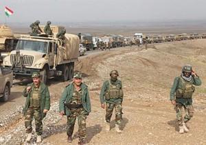 قوات البشمركة الكردية تشن هجوما على الدولة الاسلامية في شمال العراق