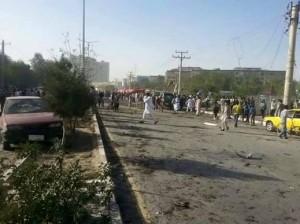مقتل 10 أشخاص وجرح 60 بينهم 5 نساء و5 أطفال بتفجير انتحاري وسط كابل