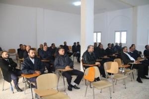 عميد بلدية صبراتة يتابع سير عمل معهد تدريب الشرطة بصبراتة0