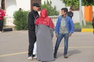 معهد تدريب الشرطة بصبراتة يشهد أول زيارة لأهالي الطلبة 3