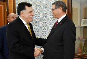 الصيد يبحث مع السراج العلاقات الثنائية بين تونس وليبيا