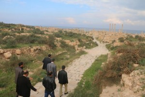 زيارة تفقدية لأعضاء المجلس البلدي صبراتة إلى المدينة الأثرية 1
