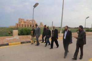 زيارة تفقدية لأعضاء المجلس البلدي صبراتة إلى المدينة الأثرية