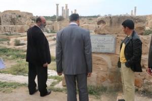 زيارة تفقدية لأعضاء المجلس البلدي صبراتة إلى المدينة الأثرية 4