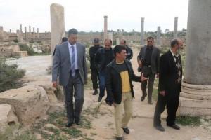 زيارة تفقدية لأعضاء المجلس البلدي صبراتة إلى المدينة الأثرية 8