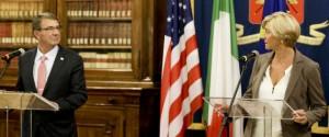 وزير الدفاع الأمريكي يبحث مع نظيرته الإيطالية تطورات الأزمة الليبية