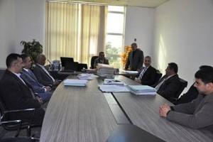 وزير العدل بحكومة طرابلس يزور محكمة ونيابة جنوب طرابلس الابتدائية
