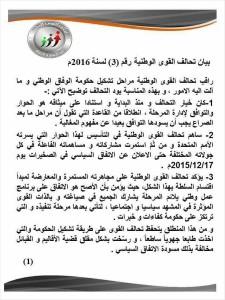 تحالف القوى الوطنية  حكومة الوفاق أخذت طابع جهوي ورسخت قضية الأقاليم والقبائل