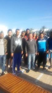 كوبلر يزور معسكر تدريب المنتخب الليبي لكرة اليد