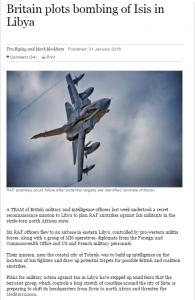 صنداى تايمز  الجيش البريطاني يستعد لضرب تنظيم داعش في ليبيا
