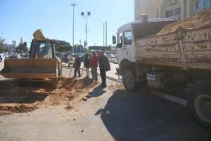 لجنة الأزمات والطوارئ وعلاج المختنقات ببلدية صبراتة تبدأ تنفيذ عدد من المشاريع 3