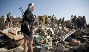 مصرع 40 شخصا في ضربات جوية للتحالف العربي شمال شرقي صنعاء باليمن