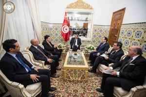 الصيد يستقبل السراج ويجدد دعم تونس للحكومة الوفاق