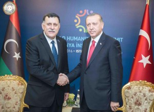 السراج يلتقى الرئيس التركي في إسطنبول