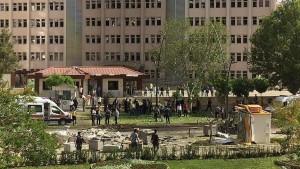 انفجار يستهدف احدى مديريات أمن التركية