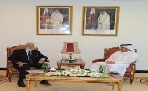 وزير الخارجية القطري يستقبل سيالة وزير الخارجية بحكومة الوفاق