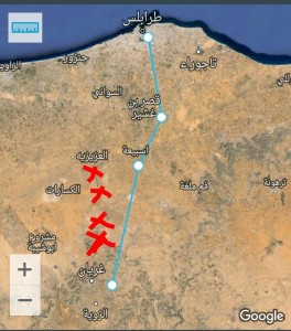 سرية الحماية بغريان تؤكد تأمينها طريق طرابلس غريان
