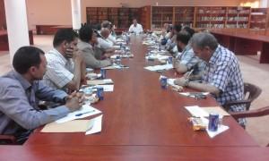 اجتماع استثنائي لأعضاء هيئة التدريس بكلية التربية تيجي