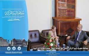الكبير يلتقي مع القائم بأعمال سفارة إيطاليا لدى ليبيا