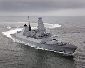 الدفاع البريطانية ارسال السفينة دياموند لمواجهة تهريب الأسلحة إلى ليبيا