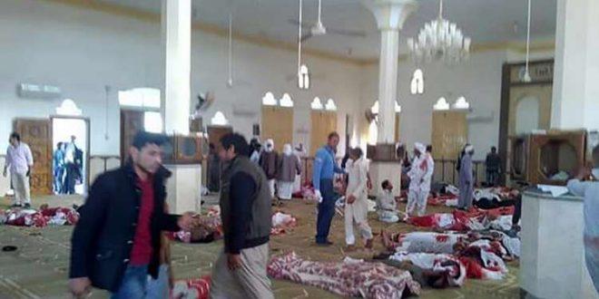 مقتل 155 شخصا في هجوم استهدف مسجد الروضة شمالي سيناء