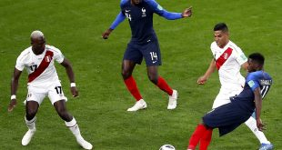 فرنسا تتأهل إلى دور الـ 16 بعد فوزها على بيرو