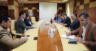 أبوجناح يبحث مع الحويج خطة عمل وزارة الاقتصاد بالمنطقة الجنوبية